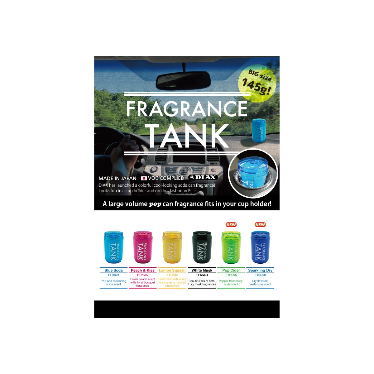 Fragrance Tank Wholesale Car Air Fresheners by Diax