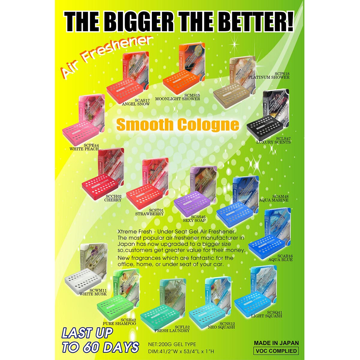 Smooth Cologne Wholesale Car Air Fresheners by Diax